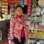 Sarin of Cambodia received $300.00 to expand grocery store items for sale.