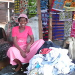 Vivian of Ghana received $250.00 to purchase additional cloth and rags for resale.