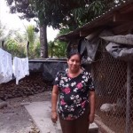 Rosa of El Salvador received $425.00 to buy wood, laminated sheeting, cement, sand and to pay for labor to repair a bedroom.