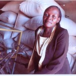 Alice of Uganda received $550 to buy maize flour and groundnuts to sell.