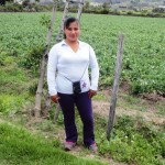 Clara of Ecuador received $275 to purchase fertilizers and fungicides and help pay laborers.
