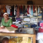 Hajara of Uganda received $925 to buy stock of clothes and bedding.