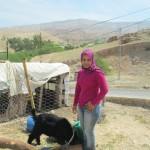 Maysoon of Jordan received $1,075 to buy more chickens.