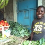Gladys from Kenya received $75 to buy onions, potatoes, tomatoes, and other groceries for her business selling groceries.