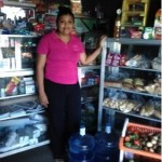 Ivania from Nicaragua received $600 to buy oil, rice, beans, sugar, and corn in bulk for her corner store business.