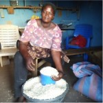 Kapiog from Ghana received $150 to buy corn for her business selling corn.
