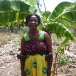 Linda from Ghana received $250 to buy seeds for new crops for her business growing and selling plantains.