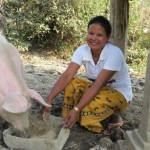 Salem from Cambodia received $150 to buy fertilizers for her farm where she grows rice and raises pigs.