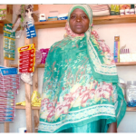 Amina from Tanzania received a $415 loan to expand her store.