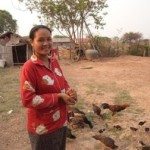 Sreymom from Cambodia received a loan of $250 to purchase fertilizer.