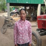 Chum from Cambodia received a loan of $200 to buy rice seeds.