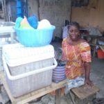 $100 was loaned to Viviane to buy yams, spaghetti and corn