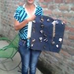 Zoila from El Salvador received a loan of $1,125 to buy beauty products, necklaces and bracelets to sell.
