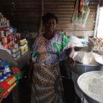 $150 from iZōsh completed a loan of $350 to help Abla pay for 3 sacks of rice, a sack of corn, 2 cans of oil, 3 sacks of sugar, and 20 bowls of beans for her grocery stall.