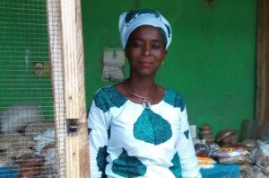 Ayisha in Ghana received a loan of $250 to buy vegetables, dried fish, and beans in bulk to to sell.