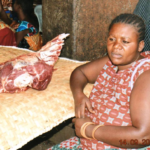 Micheline in the Congo received a loan of $75 to buy two cows to butcher and resell.