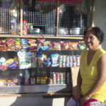 Milrose in the Philippines received a loan of $175 to buy inventory for her convenience store and food vending business.