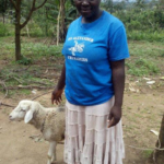 Miriam in Kenya received a loan of $150 to buy different varieties of cereals for her business selling milk, eggs and cereals.