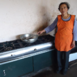 Rosa Elina in Ecuador received a loan of $500 to buy instant coffee, flour, eggs, and butter for her business selling coffee with empanadas and tortillas.