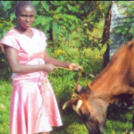 Winnie in Kenya received a loan of $350 to buy farming tools and equipment for her business selling eggs, milk, and vegetables from her farm.