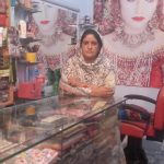 Aqsa in Pakistan received $125 from iZosh to buy embroidery items for her general store.