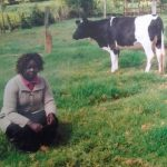 Chelangat in Kenya received $875 from iZosh to buy another dairy cow for her vegetable and milk-vending business.