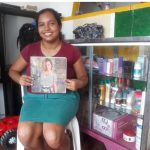 Cherilis in Colombia received $200 from iZosh to buy women's footwear to expand sales in her store in her home.