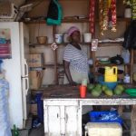 Cissy in Uganda received $175 from iZosh to buy products and local goods to sell in her retail shop.