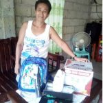 Daisy in the Philippines received $225 from iZosh to buy products for her dried goods business.