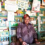 Dorcus in Kenya received $100 from iZosh to buy animal medications and feed for her agro-vet shop.