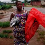 Margaret in Sierra Leone received $175 from iZosh to buy shoes and related items to sell in her shoe retail business.