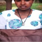 Mitikie in Ethiopia received $250 from iZosh to buy items for her small corner store.
