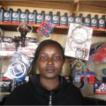 Eunice of Kenya received a loan to buy spare parts to sell.