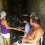 Ingrid of Colombia received a loan to buy an industrial stove and supplies for her restaurant.